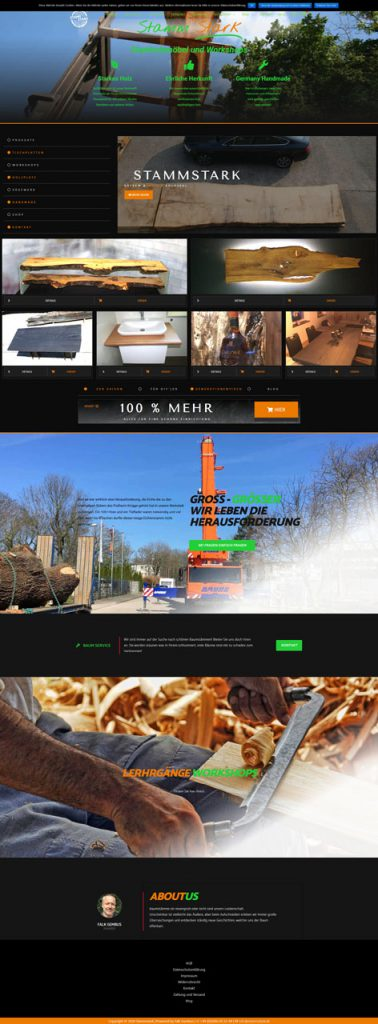 Stammstark neue Website Screenshot