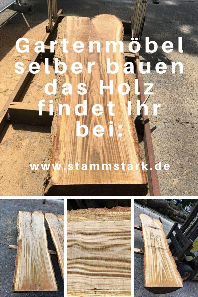 Gartenmöbel selber bauen Werbung für Stammstark und Massivholz